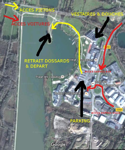 plan d'accès site des Dagueys