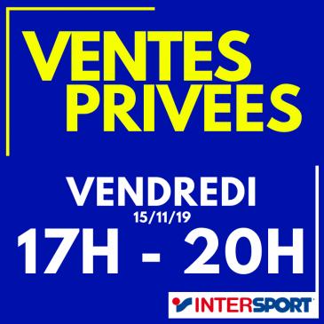 Ventes privées Intersport Libourne vendredi 15/11
